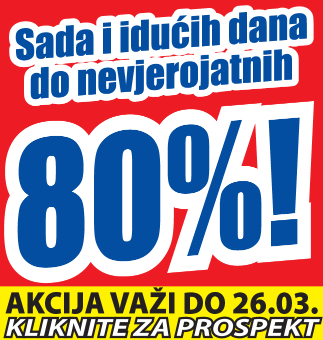 LIKVIDACIJA CIJELOG ASORTIMANA NA -74%!